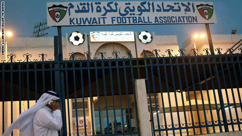 A man walks past the Kuwaiti Football Association (KFA)'s headquarters on October 17, 2015, in Kuwait City. The KFA was suspended by FIFA on October 16, 2015, for government interference, a decision which could impact the team's hopes of qualifying for the 2018 World Cup. AFP PHOTO / YASSER AL-ZAYYAT        (Photo credit should read YASSER AL-ZAYYAT/AFP/Getty Images)